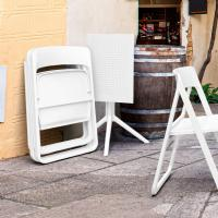 Dream Folding Outdoor Bistro Set with 2 Chairs White ISP0791S-WHI-WHI - 4