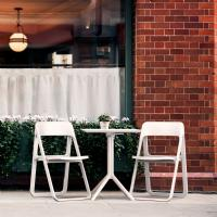Dream Folding Outdoor Bistro Set with 2 Chairs White ISP0791S-WHI-WHI - 6