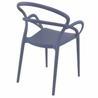 Mila Dining Arm Chair Dark Gray ISP085-DGR - 1