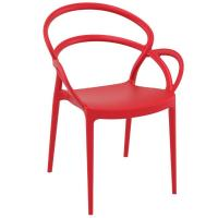 Mila Dining Arm Chair Red ISP085-RED