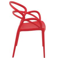 Mila Dining Arm Chair Red ISP085-RED - 1