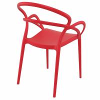 Mila Dining Arm Chair Red ISP085-RED - 2
