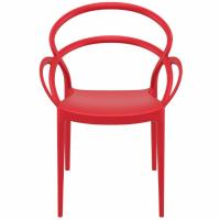 Mila Dining Arm Chair Red ISP085-RED - 4
