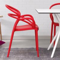 Mila Dining Arm Chair Red ISP085-RED - 5