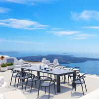 Mila Extendable Outdoor Dining Set 11 piece White ISP0851S-WHI - 4