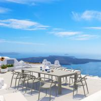Mila Extendable Outdoor Dining Set 11 piece White ISP0851S-WHI - 5