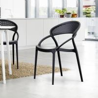 Sunset Dining Chair Black ISP088-BLA - 6
