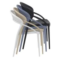 Sunset Dining Chair Black ISP088-BLA - 7