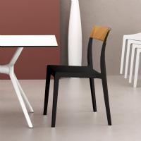 Flash Dining Chair Black with Transparent Amber ISP091-BLA-TAMB - 5