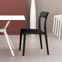 Flash Dining Chair Black with Transparent Black ISP091-BLA-TBLA - 5