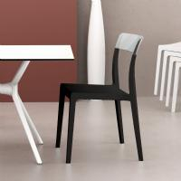 Flash Dining Chair Black with Transparent Clear ISP091-BLA-TCL - 5
