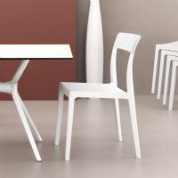 Flash Dining Chair White with Glossy White Back ISP091-WHI-GWHI - 5