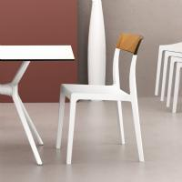Flash Dining Chair White with Transparent Amber ISP091-WHI-TAMB - 5