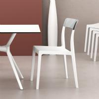 Flash Dining Chair White with Transparent Clear ISP091-WHI-TCL - 5