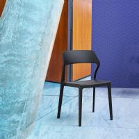 Snow Dining Chair Black ISP092-BLA - 5