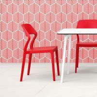 Snow Dining Chair Red ISP092-RED - 5