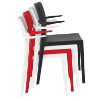 Plus Arm Chair Red ISP093-RED - 6