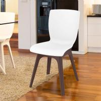 Mio PP Dining Chair Brown White ISP094-BRW-WHI - 5