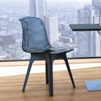 Allegra PP Dining Chair Black with Transparent Black Seat ISP096-BLA-TBLA - 5