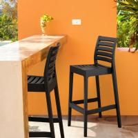 Ares Resin Outdoor Barstool Black ISP101-BLA - 6