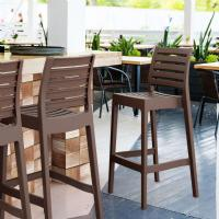 Ares Resin Outdoor Barstool Brown ISP101-BRW - 5