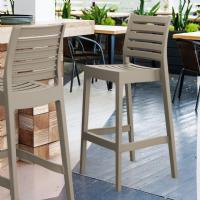 Ares Resin Outdoor Barstool Dove Gray ISP101-DVR - 5