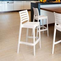 Ares Resin Outdoor Barstool White ISP101-WHI - 5