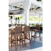 Ares Resin Outdoor Barstool Black ISP101-BLA - 9