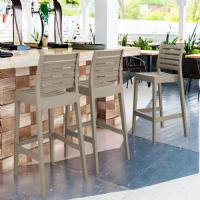 Ares Resin Outdoor Barstool Black ISP101-BLA - 11