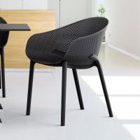 Sky Outdoor-Indoor Armchair Black ISP102-BLA - 6