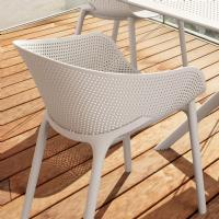 Sky Outdoor-Indoor Armchair White ISP102-WHI - 5