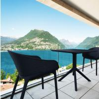 Sky Outdoor Bistro Set 3 Piece Black