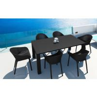 Sky Extendable Dining Set 7 Piece Black ISP1022S-BLA - 3
