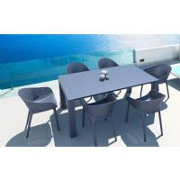 Sky Extendable Dining Set 7 Piece Black ISP1022S-BLA - 4