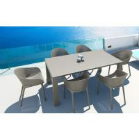 Sky Extendable Dining Set 7 Piece Taupe ISP1022S-DVR - 5