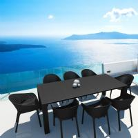 Sky Extendable Dining Set 9 Piece Black