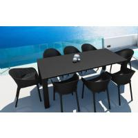 Sky Extendable Dining Set 9 Piece Black ISP1023S-BLA - 3