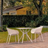 Sky Dining Set with 2 Arm Chairs White ISP1024S-WHI