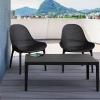 Sky Lounge Set 3 Piece Dark Gray ISP1031S-DGR - 4