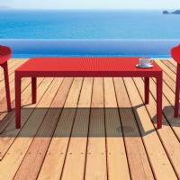 Sky Outdoor Coffee Table Red ISP104-RED - 3