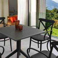 Sky Square Dining Table 31 inch Black ISP106-BLA - 4