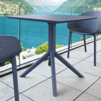 Sky Square Outdoor Dining Table 31 inch Dark Gray ISP106-DGR - 3