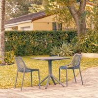 Air Patio Dining Set with 2 Chairs Dark Gray