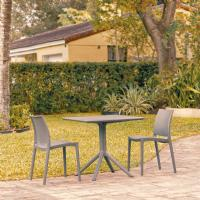 Maya Patio Dining Set with 2 Chairs Dark Gray