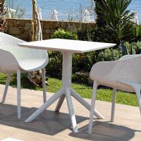 Sky Square Outdoor Dining Table 27 inch White ISP108-WHI - 3