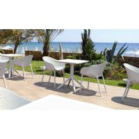Sky Square Outdoor Dining Table 27 inch Black ISP108-BLA - 6