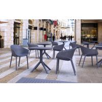 Sky Square Outdoor Dining Table 27 inch Black ISP108-BLA - 7