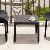 Sky Outdoor Side Table Black ISP109-BLA - 3