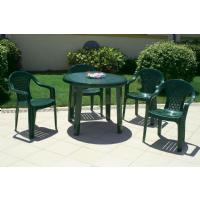 Sunny Resin Round Dining Table 35 inch Green ISP125-GRE - 1
