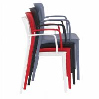 Lisa Outdoor Dining Arm Chair Red ISP126-RED - 5
